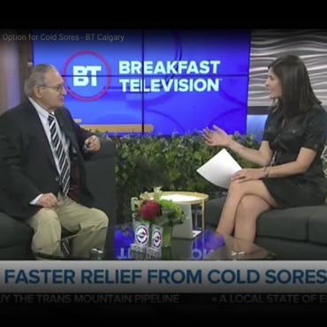 Dr. Martin Unger, Clera's consulting physician talks about a new treatment option for cold sores on Breakfast Television Calgary | Docteur Martin Unger, médecin consultant de Clera, discute une nouvelle option de traitement pour feux sauvages sur Breakfast Television Calgary.